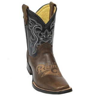Kids St. Louis Rams Leather Western Boots