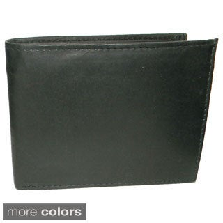 Hollywood Tag Cowhide Leather Bit-fold Wallet