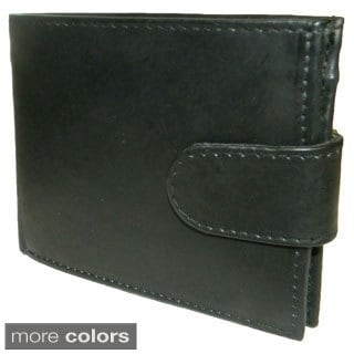 Cowhide Leather Bi-fold Suede Lined Wallet