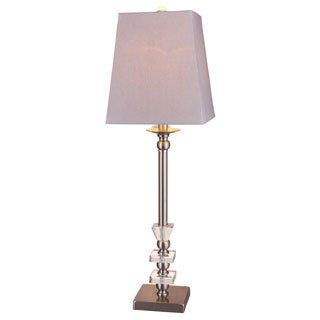 Metal/ Crystal Brushed Steel Buffet Lamp