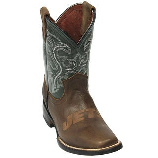 Kids New York Jets Leather Western Boots