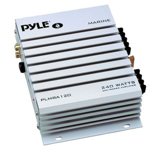 Pyle PLMRA120 2 Channel 240 Watt Waterproof Marine Amplifier (Refurbished)