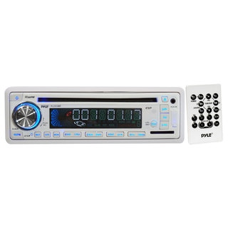 Pyle PLCD35MR In-Dash Marine Receiver w/ CD/MP3 AM/FM-MPX USB/SD Card Function (Refurbished)