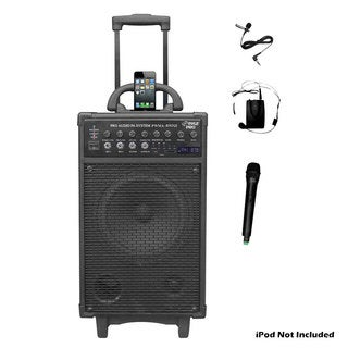 Pyle PWMA890UI 500 Watt Dual Channel Wireless Rechageable Portable PA System (Refurbished)