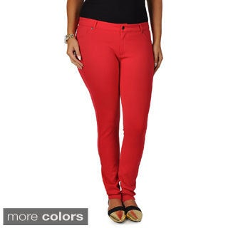 Journee Collection Juniors Plus Size Stretch Skinny Pants
