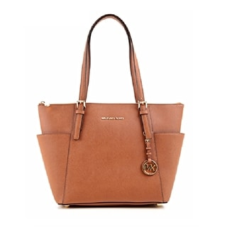 MICHAEL Michael Kors 'Jet Set' Medium Luggage Saffiano Leather Tote