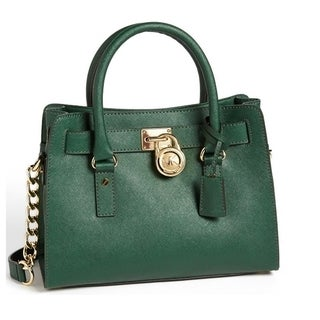 Michael Kors Malachite Hamilton East/West Saffiano Satchel