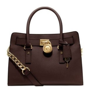 Michael Kors Coffee Hamilton East/West Saffiano Satchel
