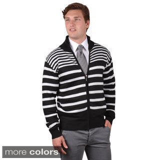 Boston Traveler Men's Striped Zip-up Sweatshirt