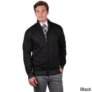 Boston Traveler Men's Two-tone Zip-up Sweatshirt