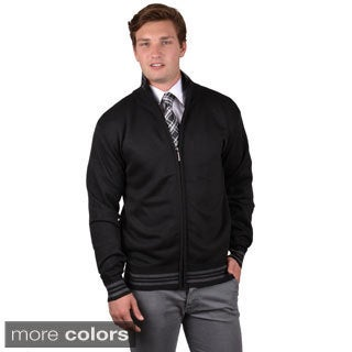 Boston Traveler Men's Two-tone Zip-up Sweatshirt