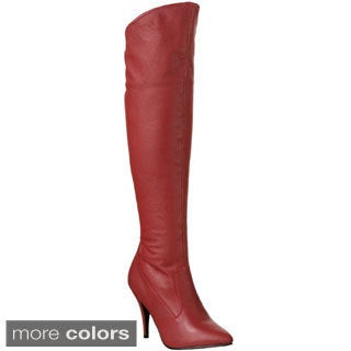 Pleaser 'Vanity-2013' Women's Pull-On Cuffed Knee High Boots