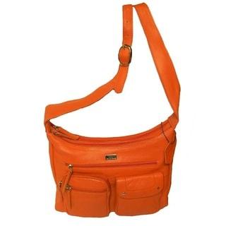 Hollywood Tag Genuine Leather Shoulder Bag