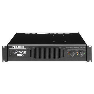 PylePro PEA4000 Professional 4000 Watts Stereo Power Amplifier (Refurbished)
