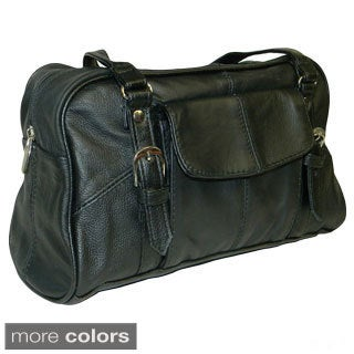 Hollywood Tag Rounded Leather Satchel