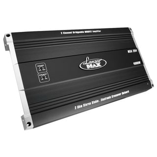 Lanzar MXA254 4000 Watt 2 Channel Bridgeable MOSFET Amplifier (Refurbished)