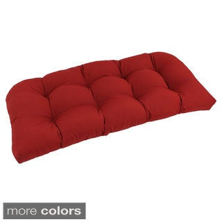 Blazing Needles U-Shaped Tufted Twill Settee/Bench Cushion