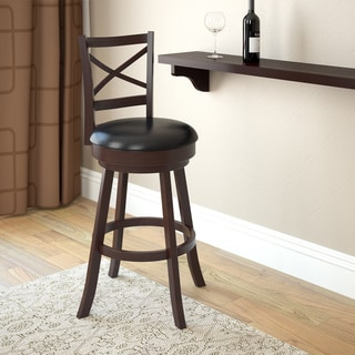 CorLiving Woodgrove Cross Back Wooden Bar Stool