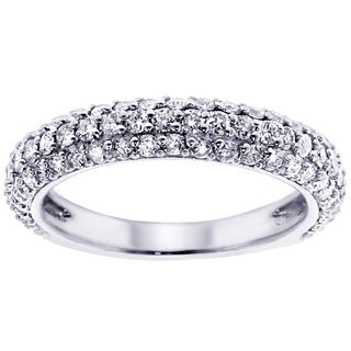 14K/18K Gold or Platinum 1 2/5ct TDW Pave Diamond Band (F-G, SI1-SI2)