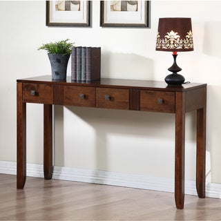 Retro Tobacco Finish Sofa Table