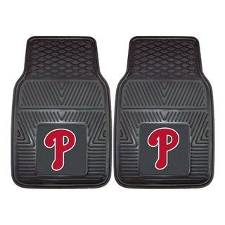 MLB Philadelphia Phillies Heavy Duty 2-piece Vinyl Car Mats