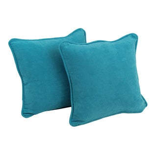 Blazing Needles Tropical 18-inch Square Microsuede Throw Pillows (Set of 2)
