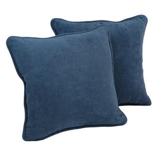 Blazing Needles Earthtone 18-inch Square Microsuede Throw Pillows (Set of 2)