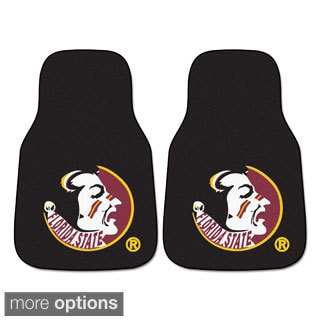 Collegiate Clemson, Florida State, Mississippi State, Texas Tech, Kansas, Miami, Missouri, Carolina 2-piece Carpeted Car Mats