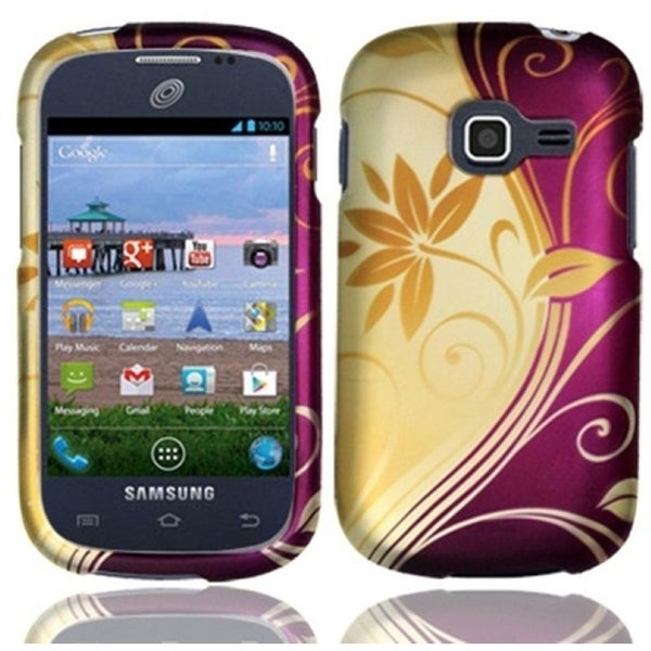 INSTEN Splendid Swirl Rubberized Hard Plastic Snap-on Phone Case Cover for Samsung Galaxy Centura/ Discover