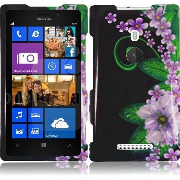 INSTEN Green Flower Phone Case Cover for Nokia Lumia 925