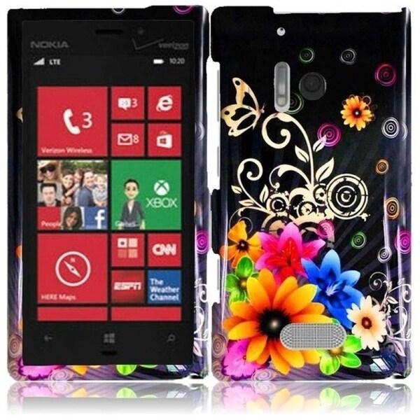 INSTEN Chromatic Flower Phone Case Cover for Nokia Lumia 928