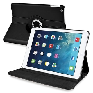 BasAcc Black 360-degree Swivel Stand Leather Case for Apple� iPad Air