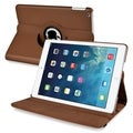 BasAcc Brown 360-degree Swivel Stand Leather Case for Apple iPad Air