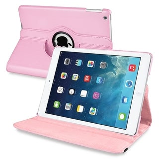 BasAcc Light Pink 360-degree Swivel Leather Case for Apple� iPad Air