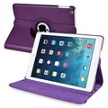 BasAcc Purple 360-degree Swivel Stand Leather Case for Apple iPad Air