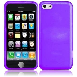 BasAcc Purple TPU Rubber Candy Skin Phone Case Cover for Apple iPhone 5C