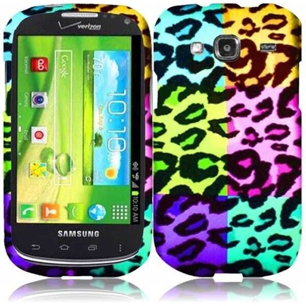 INSTEN Colorful Leopard Phone Case Cover for Samsung i425 Godiva