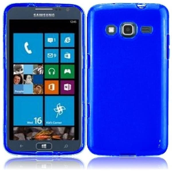 INSTEN Blue Frosted TPU Phone Case Cover for Samsung ATIV S Neo i800