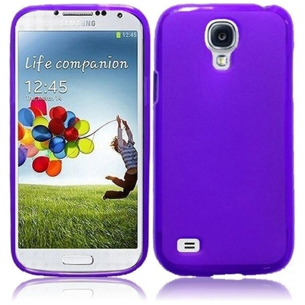 INSTEN Purple Frosted TPU Phone Case Cover for Samsung S4 Mini
