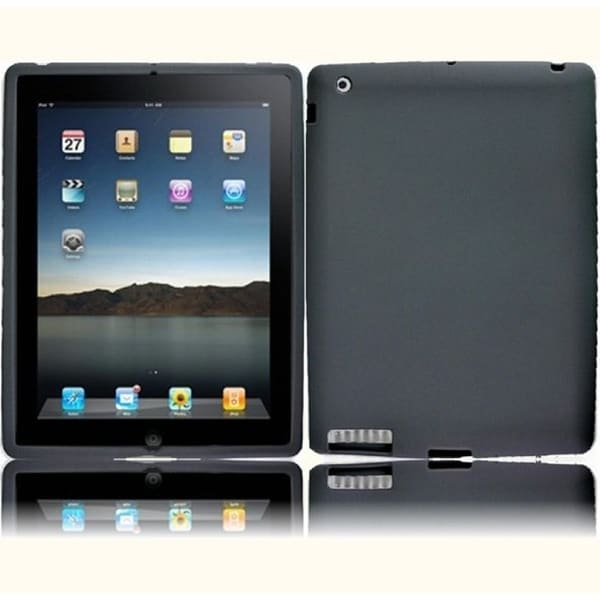 INSTEN Grey Soft Silicone Tablet Case Cover Apple iPad 3/ iPad HD