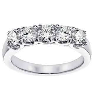 14K/18K Gold or Platinum 1ct TDW Brilliant Cut Five Stone Diamond Band (F-G, SI1-SI2)