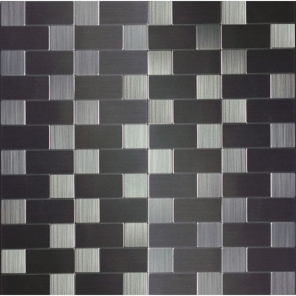 instant mosaic 12 inch peel and stick grey mosaic rectangle tiles 6