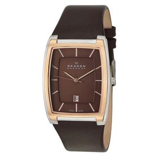 Skagen Mens' SKW6004 Classic Brown Leather Watch