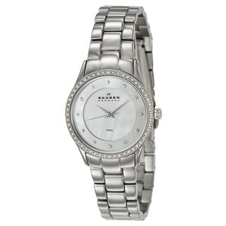Skagen Women's 'Glitz' Stainless Steel Japanese Quartz Watch