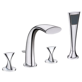 Fontaine Adelais Chrome Roman Tub Faucet with Handheld Shower