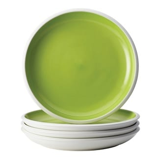 Rachael Ray Dinnerware Rise 4-piece Green Stoneware Dinner Plate Set