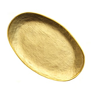 Gold 13.5-inch Oval Platter