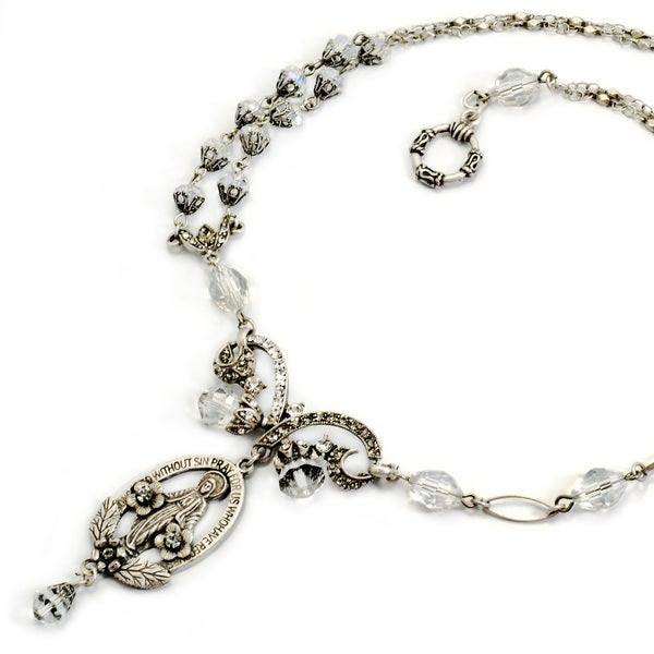 Sweet Romance Vintage Madonna of Miracles Necklace