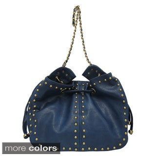 Yoki Studded Chain Strap Shoulder Bag