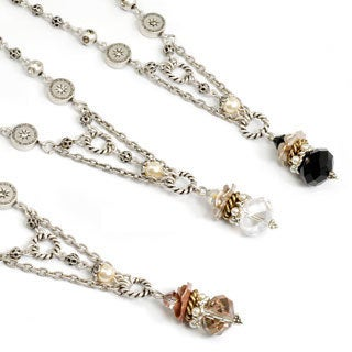 Sweet Romance Crystal Pearl Drop Necklace